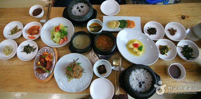 아하라의 채식상차림