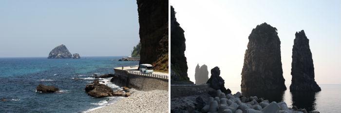 공암과 해안도로와 삼선암