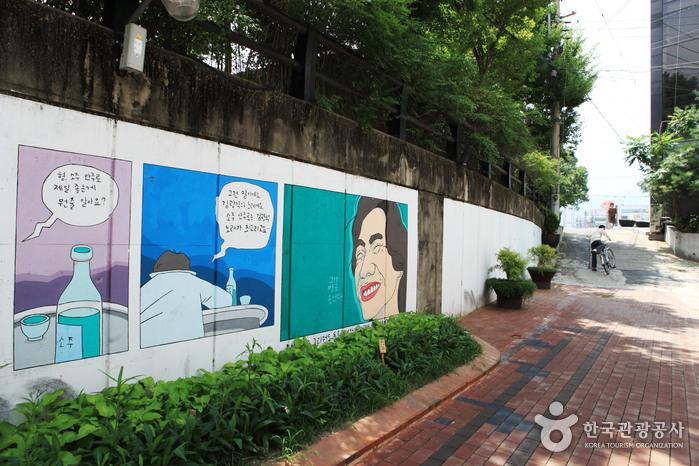 Улица имени музыканта Ким Кван Сока (김광석 길)12