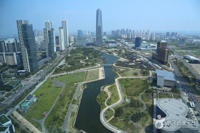 G타워 33층에서 바라본 센트럴파크 전경