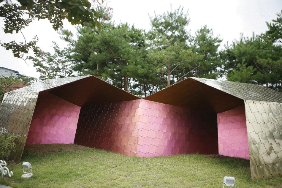 동구도시재생지원센터 뒤쪽에 있는 폴리 꿈집