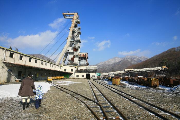사북탄광문화관광촌의 야외전시장