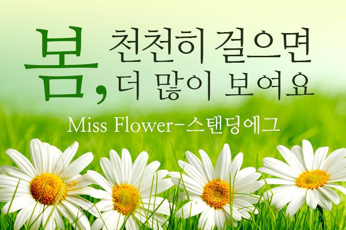 [여행 카드] 봄, 천천히 걸으면 더 많이 보여요 ♪, Miss Flower-스탠딩에그 사진