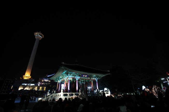 釜山日の出 市民の鐘 鐘撞き行事(부산 해맞이 시민의 종 타종행사)
