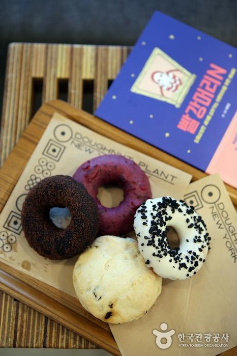 건강한 재료로 만든 도넛