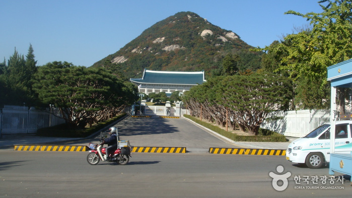 The Street in front of the Cheongwadae (Blue House) (청와대 앞길)