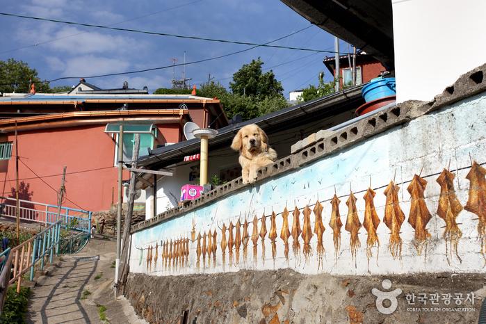 Улица Нонгольдам-киль в Тонхэ (Деревня Тындэ Тамхва маыль) (동해 논골담길 (등대 담화마을))