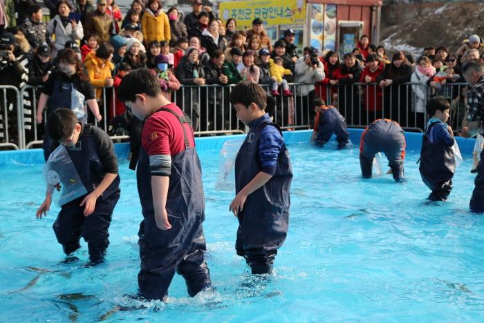 Ginseng-Forellen-Festival am Fluss Hongcheon (홍천강 인삼송어 축제)