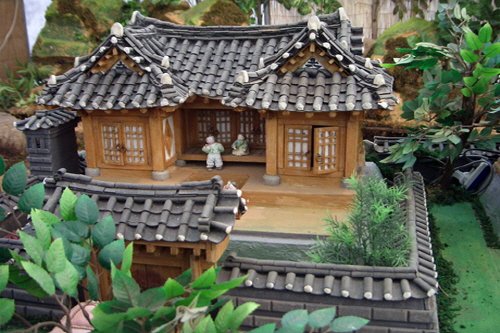 YM614 Ho Series - Bukchon traditional Korean House town B - Wooden ...