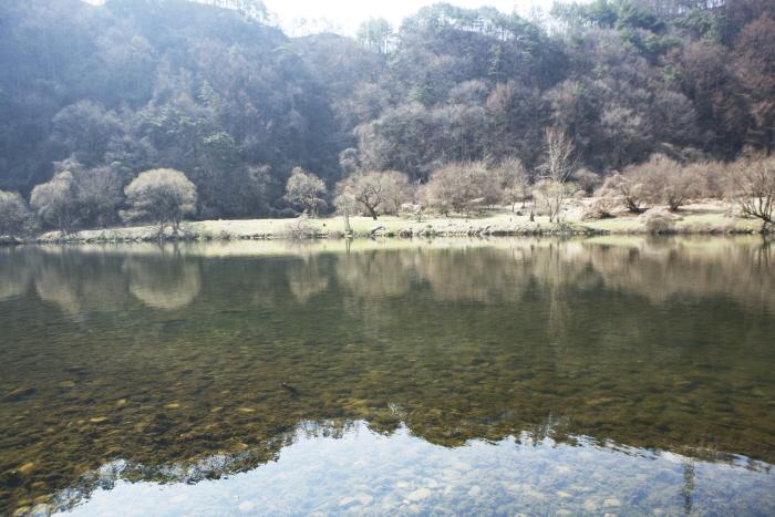 방우리 강변 풍경