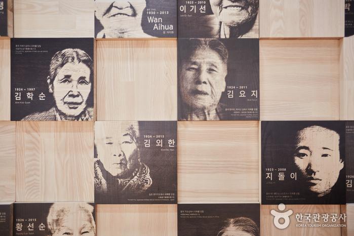 국내외 위안부 피해자의 사진과 명단