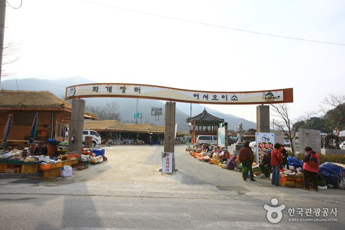 [Hadong Park Kyung-ri Toji-gil - Route 2] Simni (10ri) Kirschblüten-Straße - Buddhistische Einsiedelei Guksaam ([하동 박경리 토지길 2코스] 십리벚꽃길~국사암)