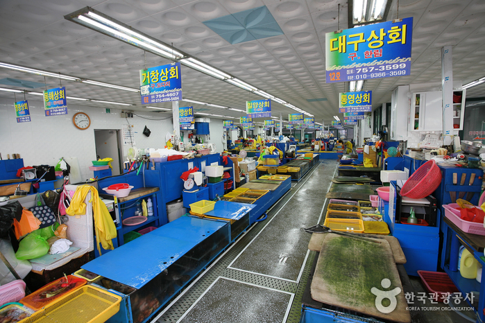 Millak Hoe (raw fish) Center (부산 민락회센타)