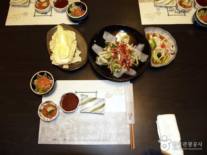 점심식사(18번 완당집, 어가초밥)