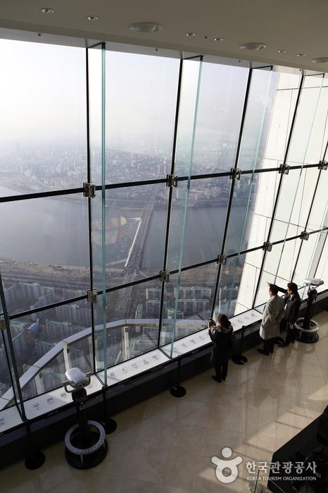 서울에서 가장 높은 서울스카이 전망대