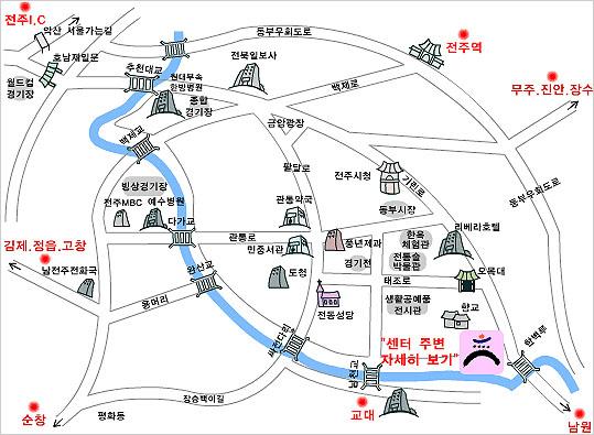 韩国全州市地图