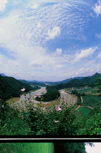 Korea-Felsen in Seonam (선암마을 한반도지형)