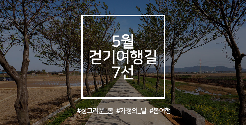 5월 걷기여행길 7선. 싱그러운 봄, 가정의 달, 봄여행
