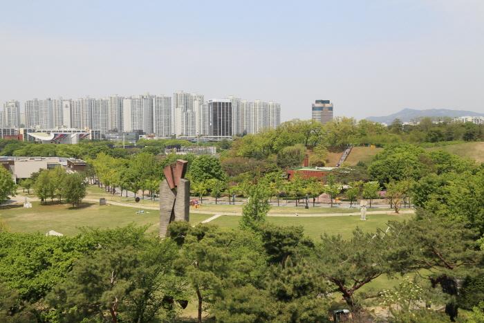 하늘정원에서 바라본 공원 전경
