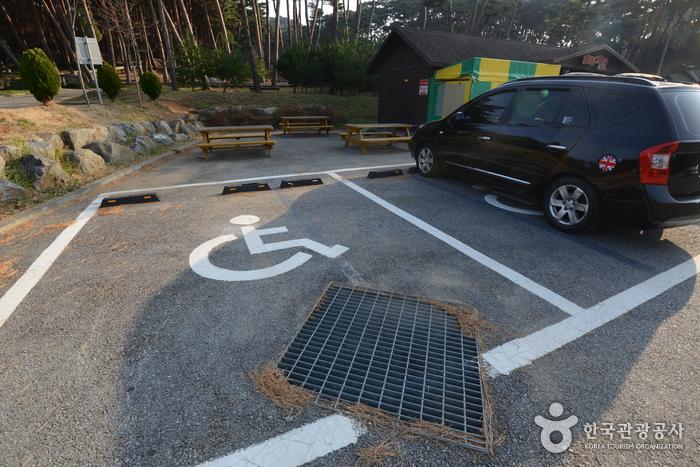 산책로와 가까운 장애인주차구역