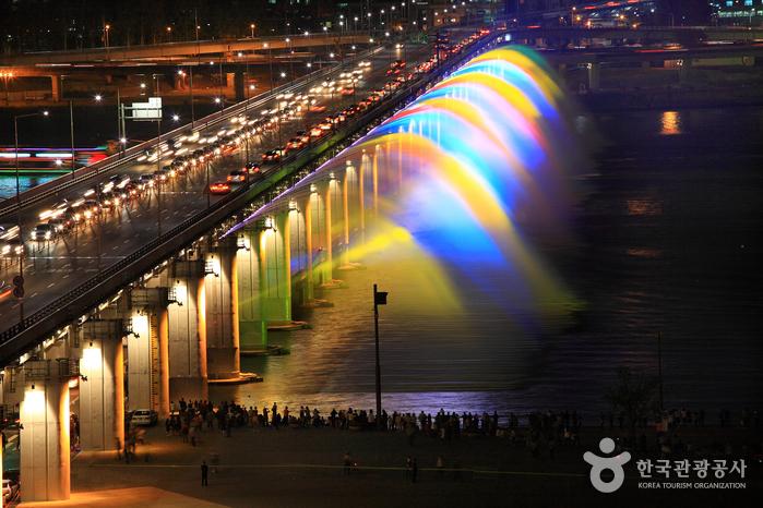 盘浦大桥月光彩虹喷泉<br>반포대교 달빛무지개분수