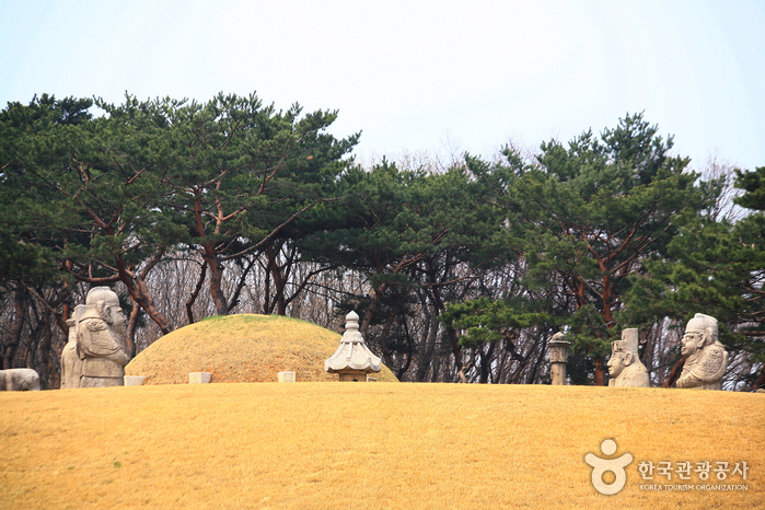 photo about Royal Tombs of the Joseon Dynasty