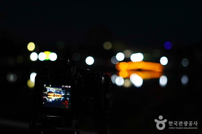 일감호 둘레길에 있는 홍예교 야경