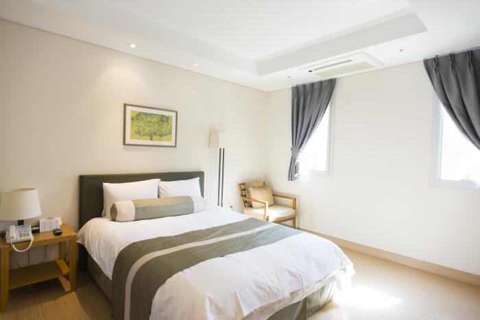 곤지암리조트의 장애인 객실(침실)