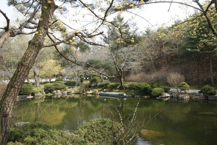 봄빛이 무르익은 금산 칠백의총 내 연못