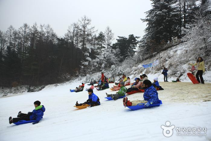 Hanhwa-Schlittenbahn in Yangpyeong (양평한화리조트 눈썰매장)