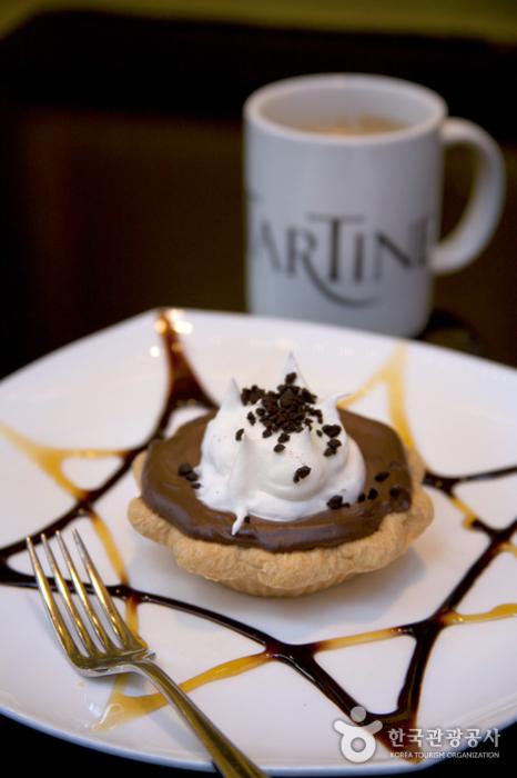 '타르틴'의 벨기에산 다크 초콜릿으로 만든 초콜릿 크림파이