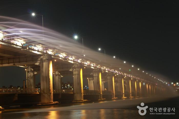 Радужный фонтан на мосту Панпхо дэгё (반포대교 달빛무지개 분수)9