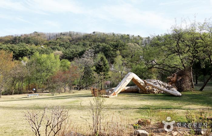 나무거인들은 세계적인 업사이클링 아티스트 토마스 담보의 작품이다.