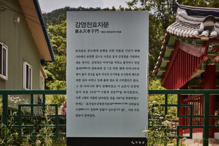 강영천효자문