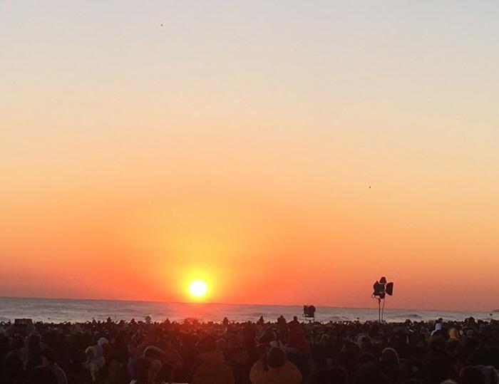 Sonnenaufgangsfestival Gyeongpo (경포 해돋이축제)