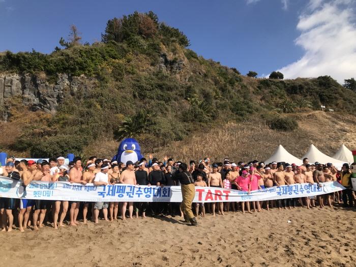 西帰浦冬の海国際ペンギン水泳大会(서귀포 겨울바다 국제펭귄수영대회)