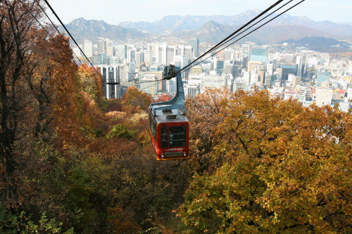 Image result for NAMSAN CABLE CAR SEOUL