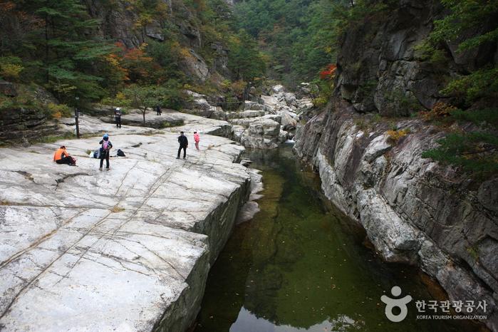 Berg Sogeumgang im Nationalpark Odaesan(오대산 소금강계곡)