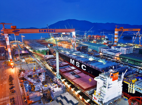 Geoje Shipyard of Samsung Heavy Industries (삼성중공업(주) 거제조선소)