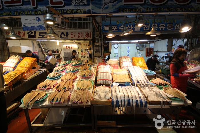木浦総合水産市場(목포 종합수산시장)