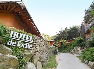 Hotel de for Re 숙소로 가는 입구 전경