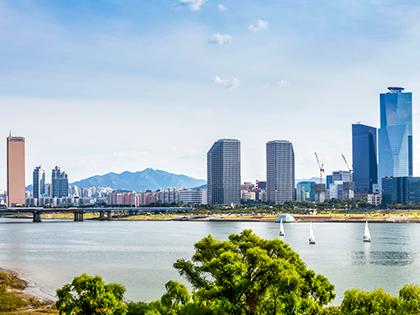 ¡Disfrute a pleno del río Hangang!