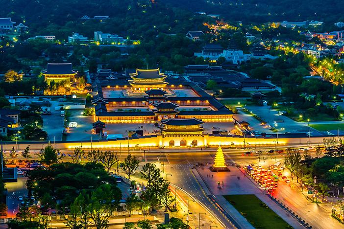 照片)景福宫的美丽夜景