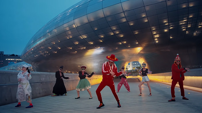 "Scene aus dem Werbevideo ""Feel the Rhythm of Korea: Seoul"""