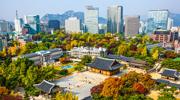 Les chemins de l'automne à Séoul