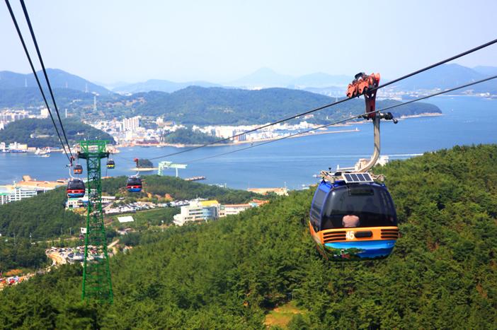 闲丽水道统营缆车, Sky Walk(下左), 统营缆车(下右)