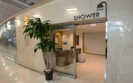 Salas de ducha gratuitas (cortesía del Aeropuerto Internacional de Incheon)