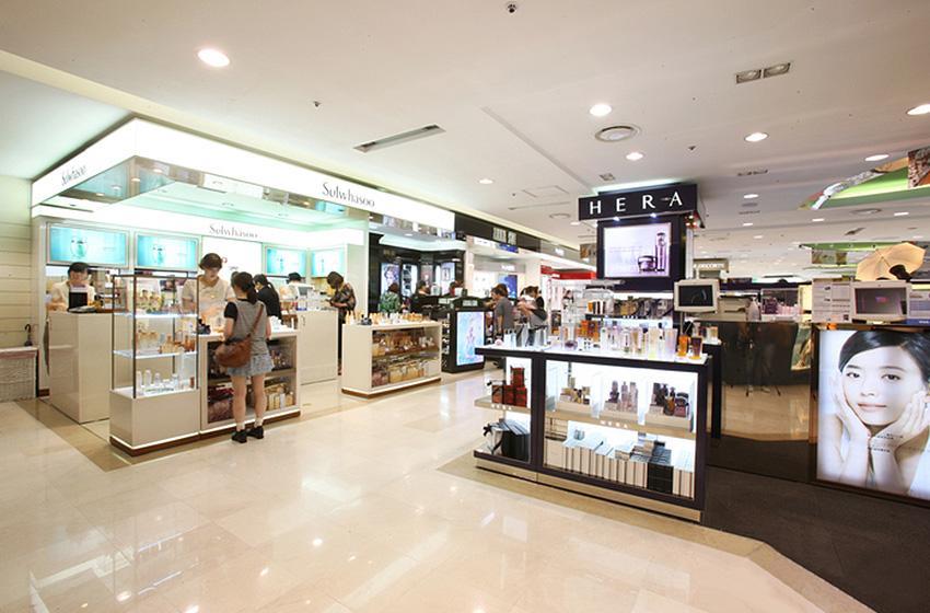 Магазин беспошлинной торговли Lotte Duty Free на Мёндоне