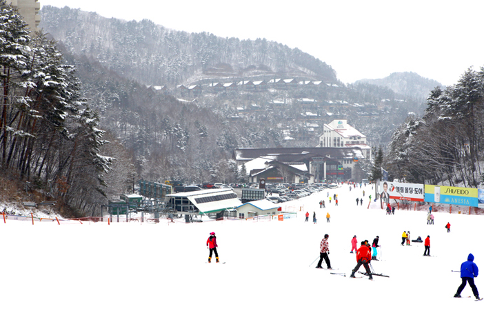 Skipiste im Yongpyong Resort