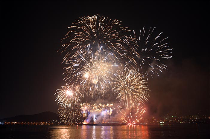 Sokcheonhang Port Multimedia Fireworks Show